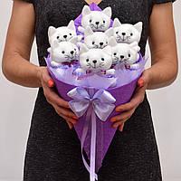 Букет из игрушек (котики). Оригинальный подарок девушке, ребёнку. Мягкие игрушки.