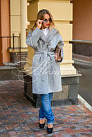 Пальто с норковым воротником
