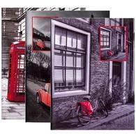 Самоклеющийся фотоальбом gedeon drs50 red 23x28 см на 50 листов