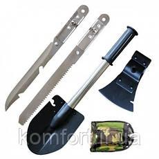 Саперная Лопата 5 в 1 + Нож Топор Пила Открывашка, фото 3