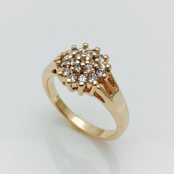 Кольцо искристый ежик, размер 16
