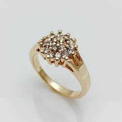 Кольцо искристый ежик, размер 16, 18