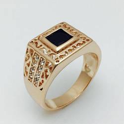 Перстень мужской Карбо, размер 19, 20 ювелирная бижутерия