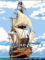 РукИТвор Картина по номерам (VK055) Белоснежные паруса (30 х 40 см)