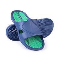9a6594e91841 Шлепанцы пляжные мужские Spokey Orbit 42 Темно-синие с зеленым (s0077)