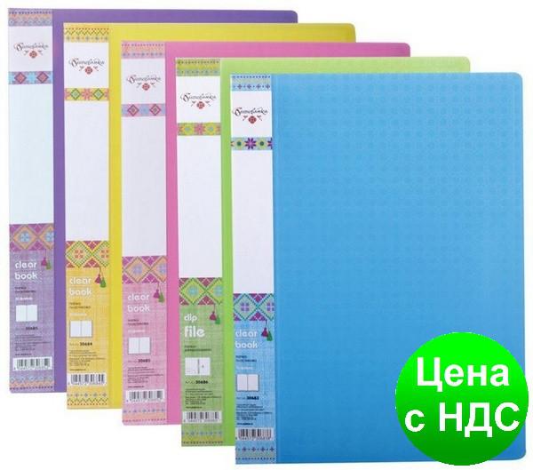 "Папка А4 с 30 файлами Optima, фактура ""Вишиванка"", ассорти O30685"