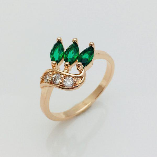 Кольцо Прелесть зеленое, размер 17, 18, 19, 20 ювелирная бижутерия