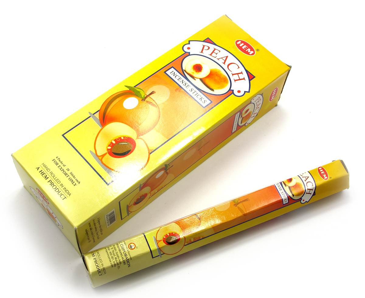 Peach (hem)(6/уп) шестигранник аромапалочки