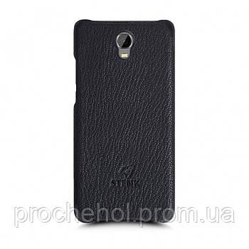 Кожаная накладка Stenk Cover для Oukitel K6000 Plus Черный