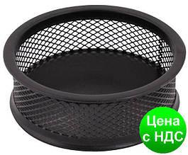 Подставка для скрепок Optima, d 95х35 мм, метал сетка, черная O36303-01