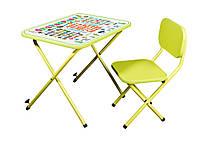 Парта со стульчиком Ommi Optima складная регулируемая лайм, фото 1