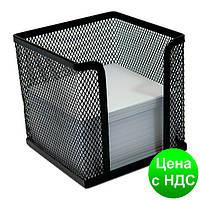 Подставка под бумагу для заметок Optima, 100х100х100 мм, метал сетка, черная O36313-01