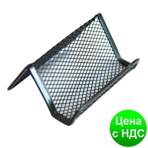 Подставка для визиток Optima, 105х90х50 мм, метал сетка, черная O36318-01, фото 2