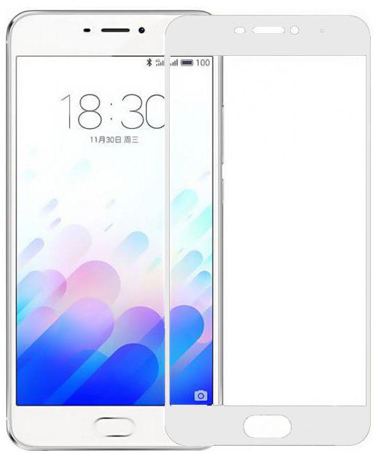Защитное стекло дисплея Meizu M6 белое (0,3 мм, 2.5D), Захисне скло дисплея Meizu M6 біле (0,3 мм, 2.5D)