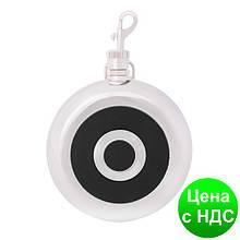 Фляга из нержавеющей  стали, 240мл, кругла, с черной вставкой O51675