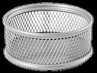 Подставка для скрепок Buromax 80x80x40мм, металлическая, серебро (BM.6221-24)