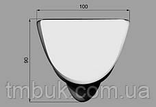 Маленькая выступающая ножка для кровати, деревянной мягкой и корпусной мебели. Гладка резная. 100 мм, фото 3