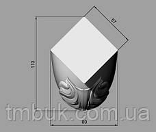 Изготовление резных гнутых ножек. Для кроватей, тумб, комодов, деревянной и мягкой мебели. 380 мм, фото 3