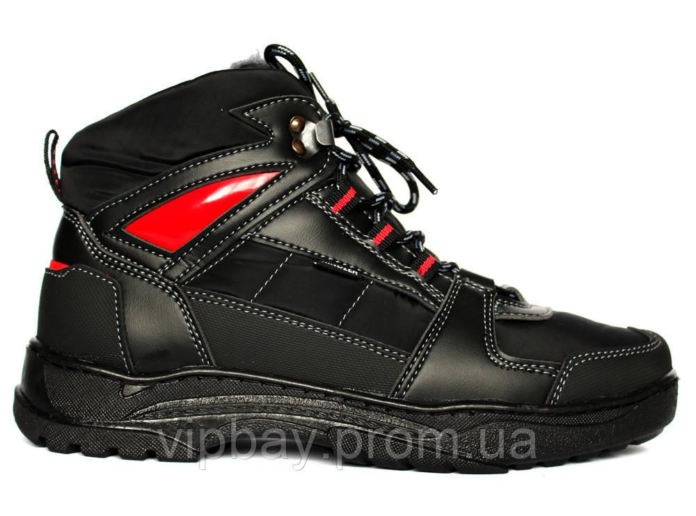 Мужские зимние спортивные ботинки теплые (КБ-7чр)