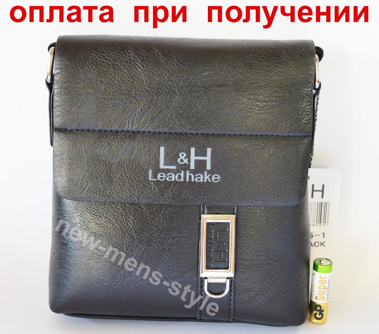 Мужская фирменная чоловіча кожаная сумка барсетка через плечо Polo Jeep LeadHake