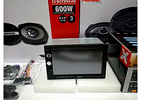 "Автомагнитола Pioneer 7026 GT с навигатором GPS 2 дин сенсор, 7"", с пудльтом на руль, вход AUX, MicroSD, USB, Bluetooth, авто магнитофон Pioneer 7026"