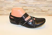 Туфли женские черные натуральная кожа Т142, фото 1
