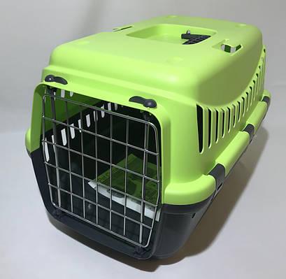 Переноска для собак и кошек Gipsy Small металлическая дверь салатовая