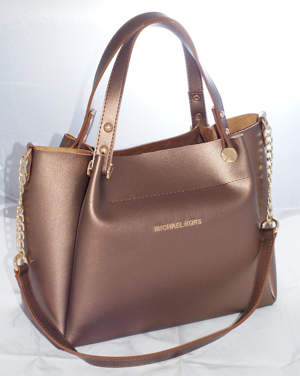 35f1bb64f8e0 Женская сумка Michael Kors (Майкл Корс), коричневая - Интернет-магазин