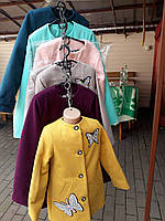 Стильное пальто на девочек
