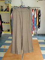 Широкие брюки с манжетами из шерстяной ткани светло-коричневого цвета Sinequanone, фото 1