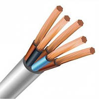 Силовой медный провод, кабель ПВС 4х 6 полноценное сечение.