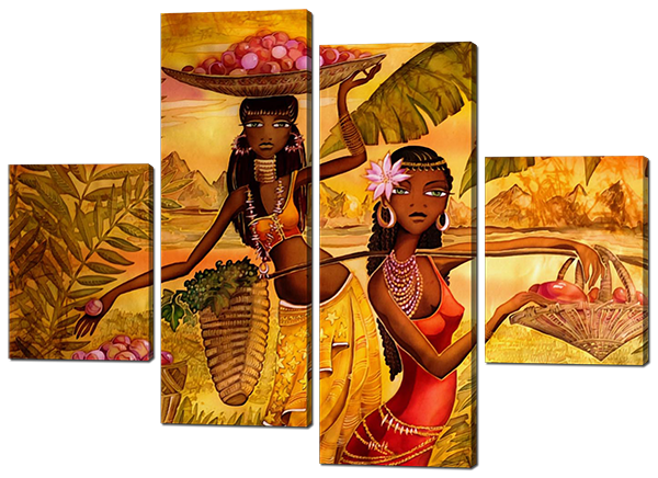 Модульная картина Африканские женщины