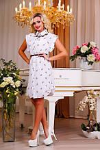 Легкое платье рубашка с поясом в комплекте Д-1565