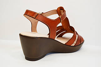 Кожаные коричневые босоножки Presso, фото 2