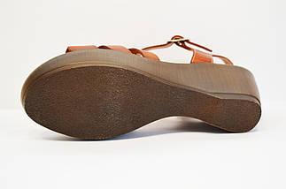 Кожаные коричневые босоножки Presso, фото 3