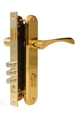 Замок врезной APECS 2223-G (UA) золото (Китай)