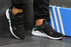 Кроссовки Adidas EQT Support Black White Suede
