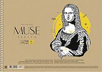 Альбом для рисования Sketch Muse 30 л спираль 050-160 Школярик