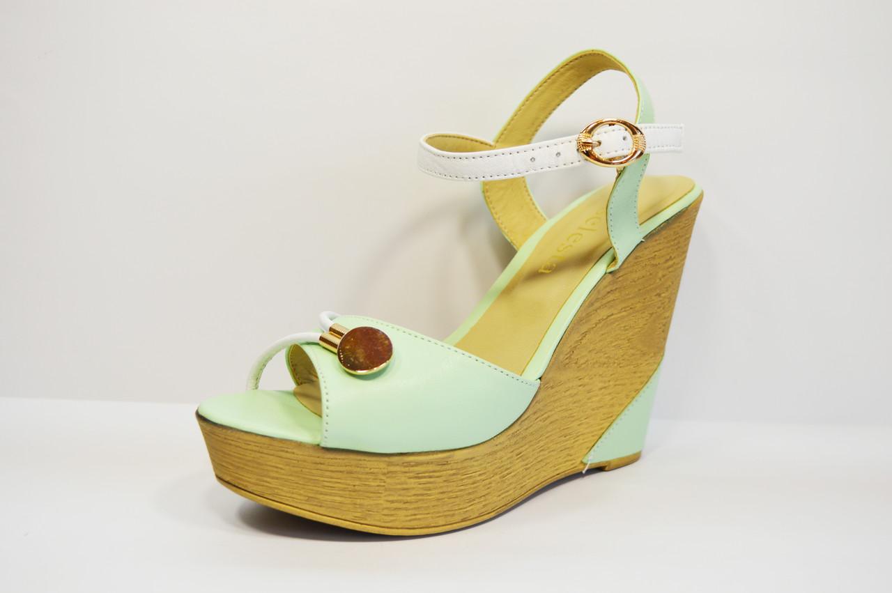 710111ddb55fd Босоножки цвета мята Selesta 056 - КРЕЩАТИК - интернет магазин обуви в  Александрии