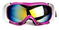 Маска (очки) горнолыжная Spyder PRO (розовый)