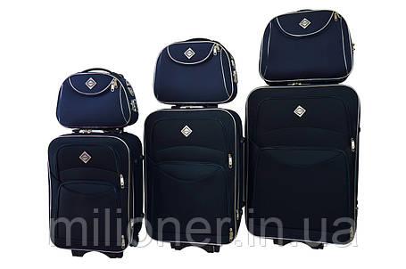 Набор чемоданов и кейс 4в1 Bonro Style синий, фото 2