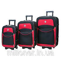 Набор чемоданов и кейс 4в1 Bonro Style черно-красный, фото 3