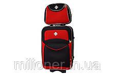 Набор чемоданов и кейс 4в1 Bonro Style черно-красный, фото 2