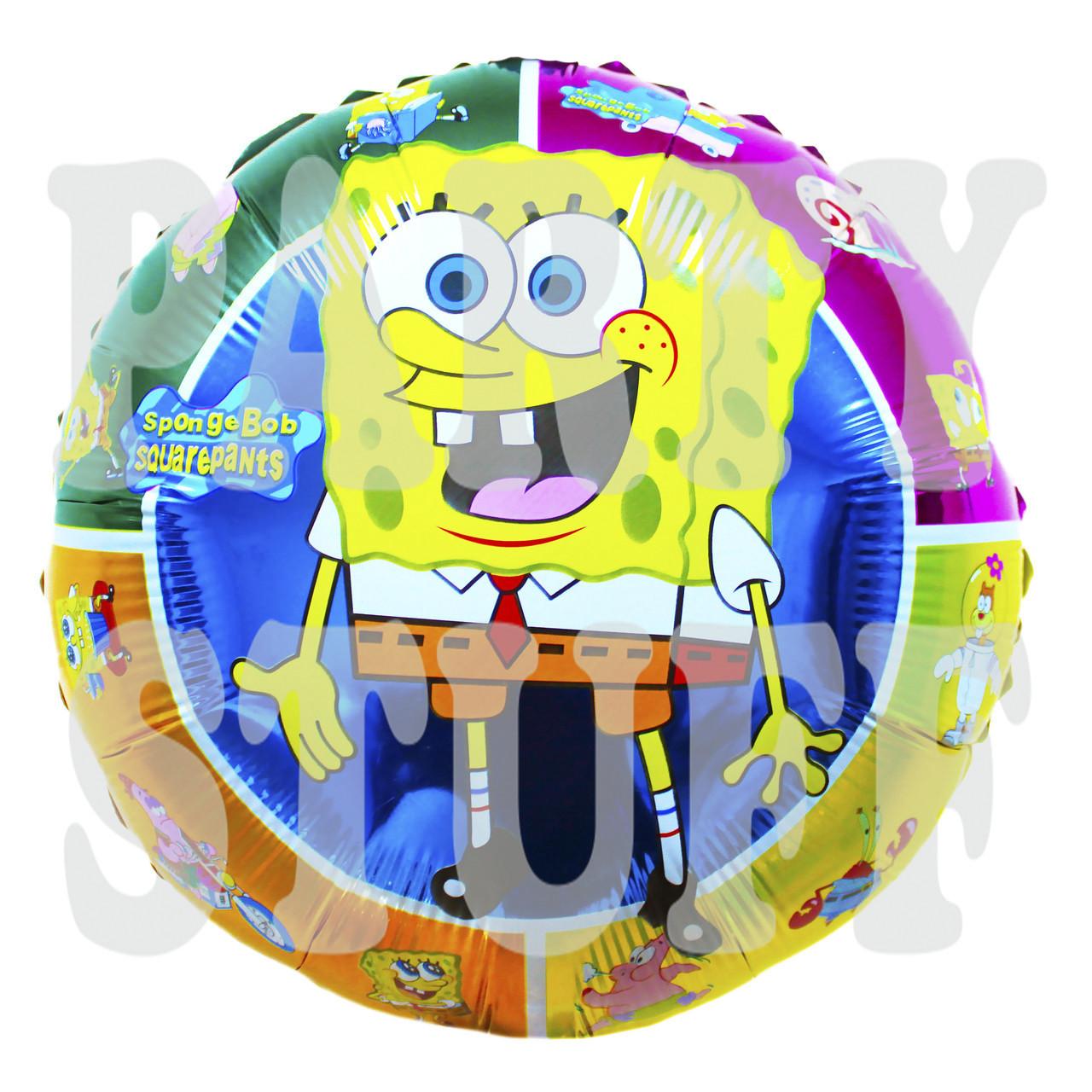 Надувной фольгированный шарик Губка Боб, 45*45 см