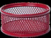 Подставка для скрепок Buromax 80x80x40мм, металлическая, красный (BM.6221-05)