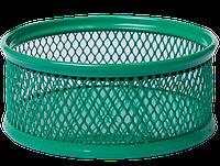Подставка для скрепок Buromax 80x80x40мм, металлическая, зеленый (BM.6221-04)
