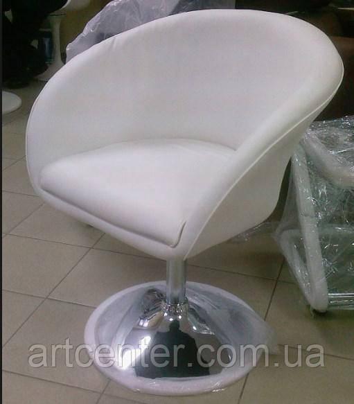 Кресло для мастера, парикмахерское кресло  (МУРАТ НЬЮ белый)