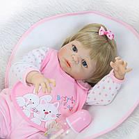 Кукла реборн, 55 см полностью виниловая