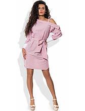 Хлопковое асимметричное платье рубашка Д-1569