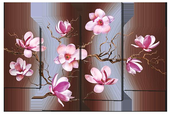 Модульная картина Цветущая ветка